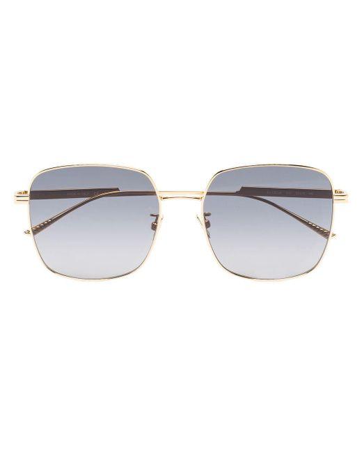 Солнцезащитные Очки В Квадратной Оправе Bottega Veneta, цвет: Metallic