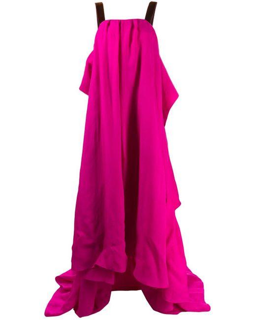 Roksanda リボン ロングドレス Pink