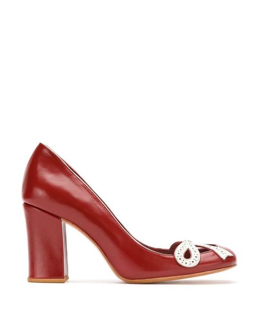 Sarah Chofakian Leather Pumps Red