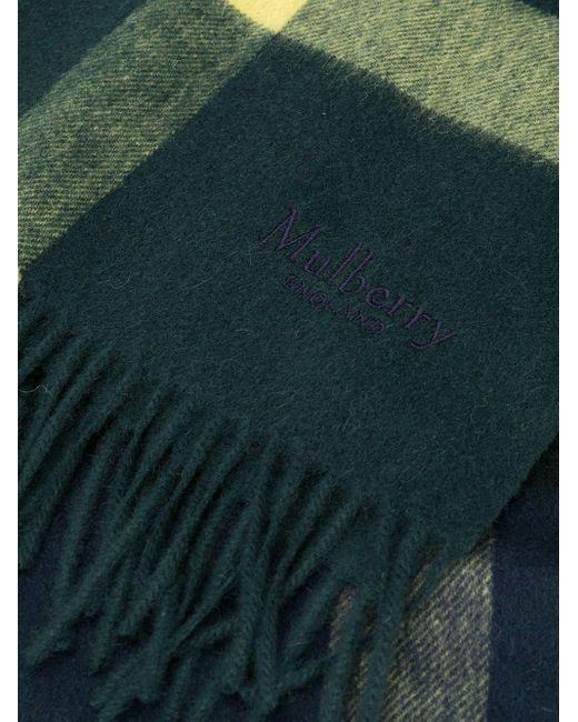 メンズ Mulberry チェック フリンジ スカーフ Multicolor