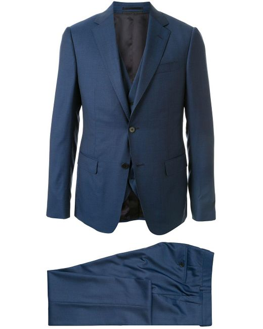 メンズ Z Zegna スリーピース スーツ Blue