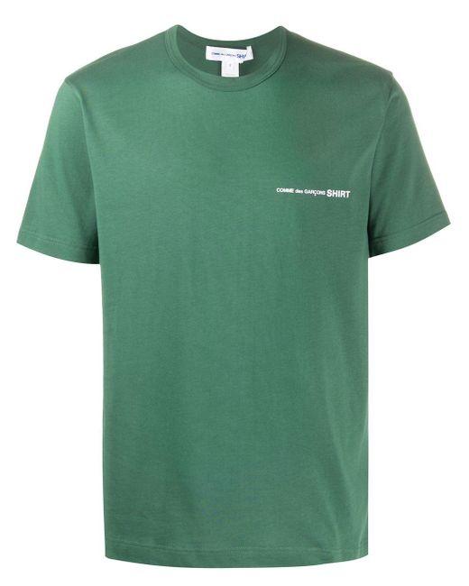 メンズ Comme des Garçons ロゴ Tシャツ Green