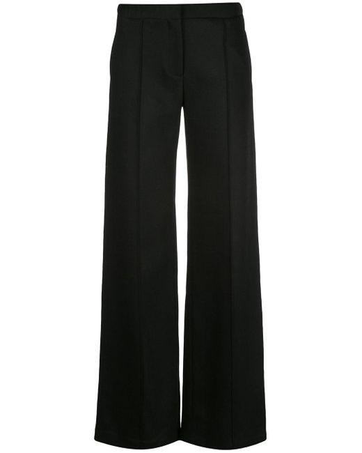 Adam Lippes Black Flared Trousers