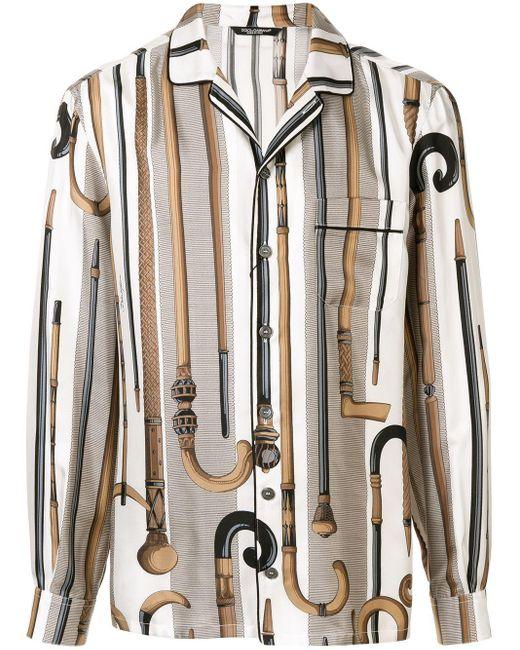メンズ Dolce & Gabbana プリント シャツ Multicolor