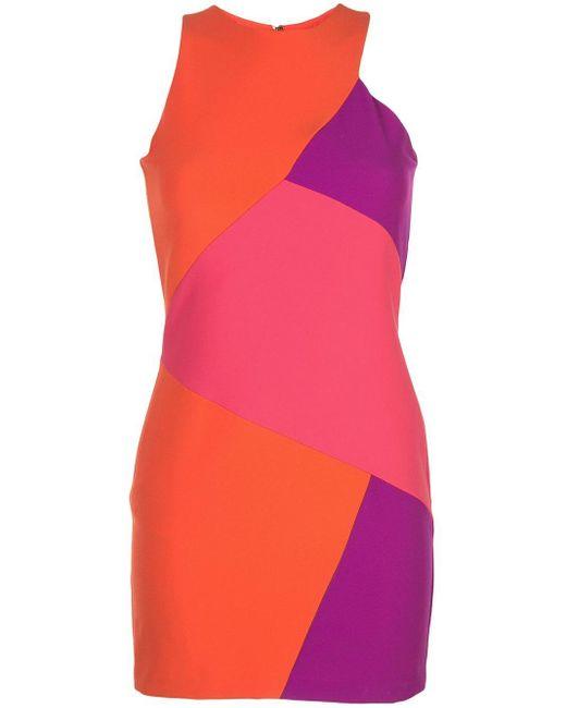 Nicole Miller パネル ミニドレス Multicolor