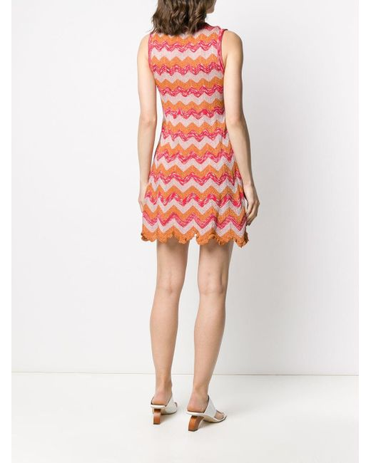 M Missoni ジグザグ ニットドレス Orange