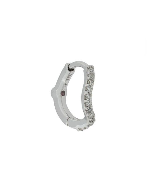 Maria Black Diamond Wave Huggie ピアス Metallic