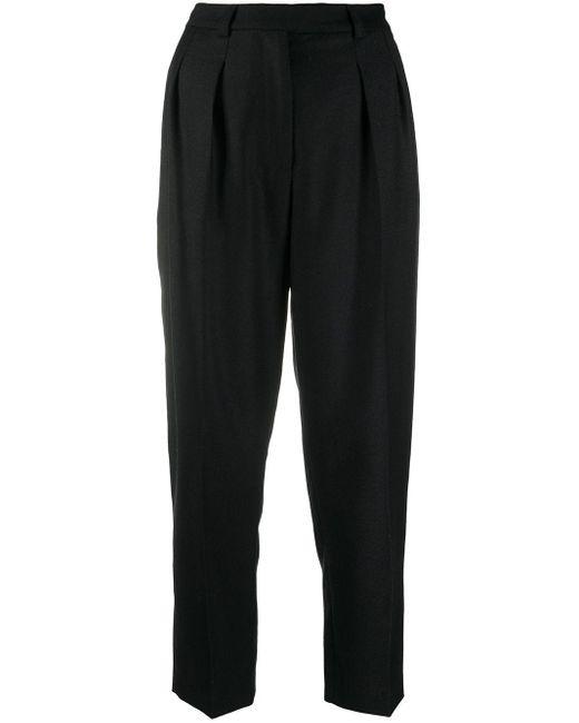 Pantalones capri con pinzas A.P.C. de color Black