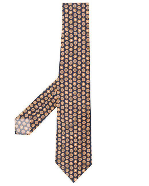Kiton Blue Polka Dot Pattern Tie for men