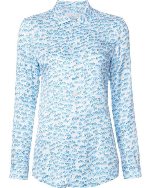 Julien David - White Printed Shirt - Lyst