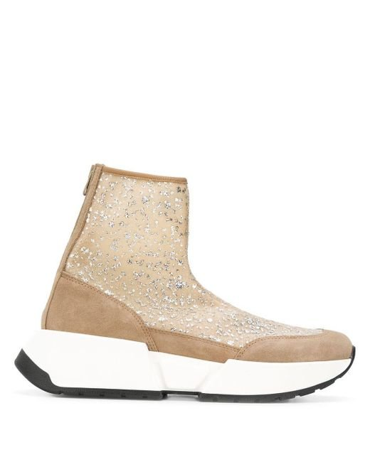 MM6 by Maison Martin Margiela ソックススニーカーブーツ Natural