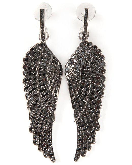 Garrard - Black Diamond Wing Earrings - Lyst
