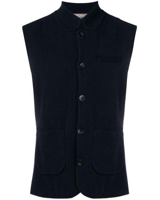 Veston en maille fine N.Peal Cashmere pour homme en coloris Blue