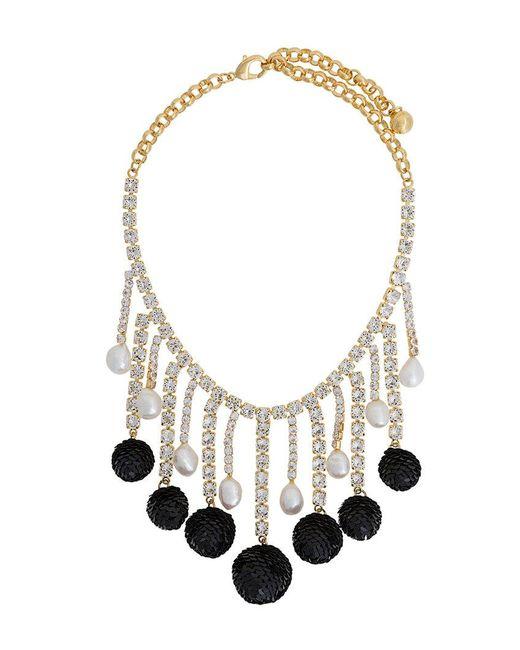 Shourouk | Metallic Sequinned Necklace | Lyst