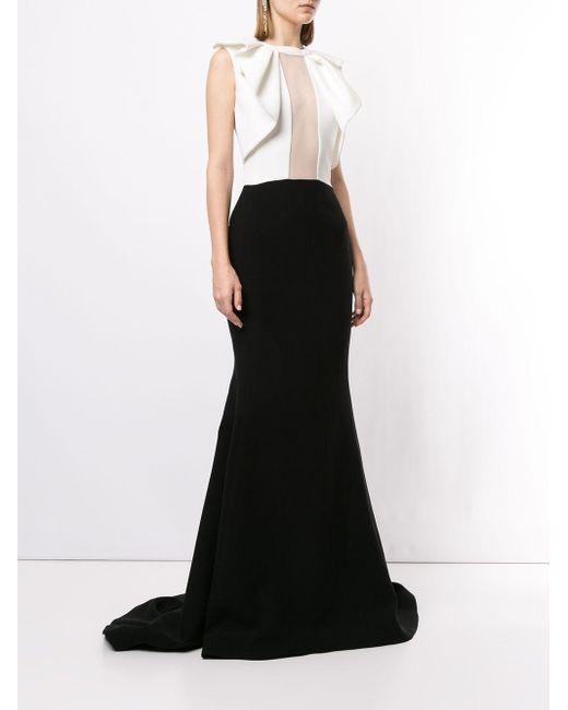 Saiid Kobeisy ラッフル ロングドレス White