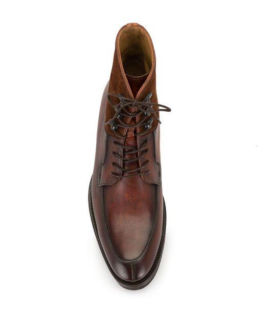 メンズ Magnanni Shoes レースアップ アンクルブーツ Brown
