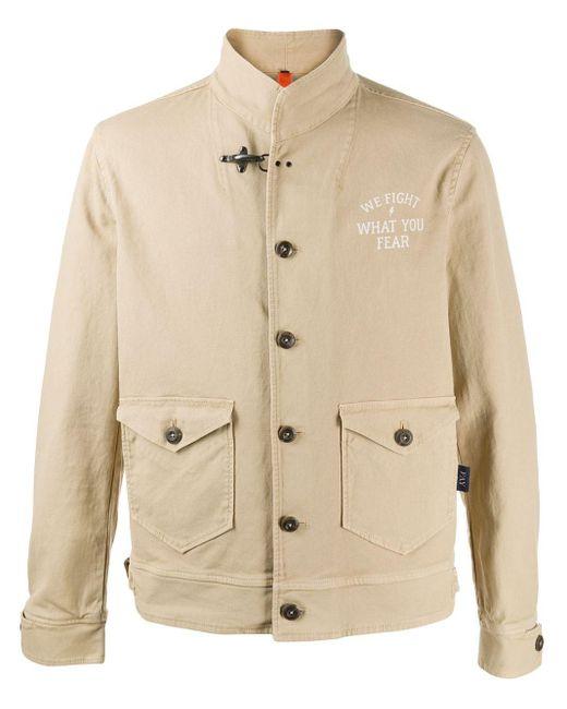 メンズ Fay スリムフィット シングルジャケット Natural