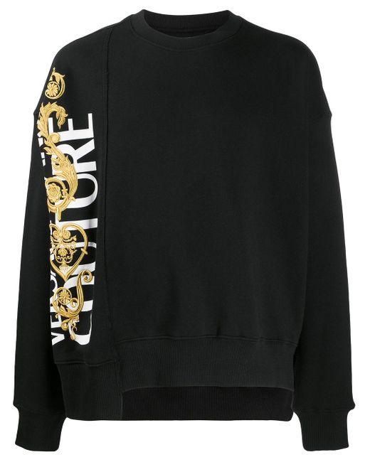 メンズ Versace Jeans パネル スウェットシャツ Black