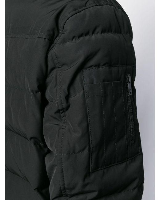 メンズ Moose Knuckles フーデッド パデッド コート Black