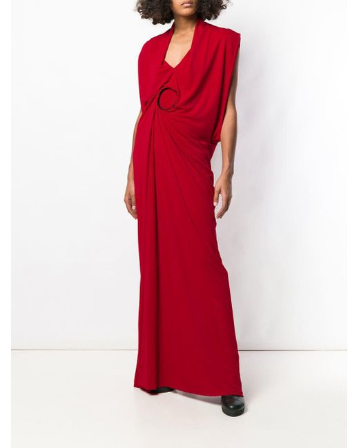 Chalayan コントラストフープ ドレス Red