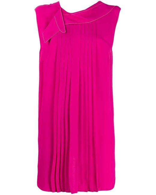 Длинная Плиссированная Блузка Marni, цвет: Pink