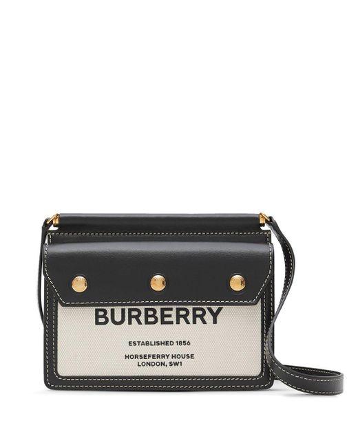 Сумка-мини Title С Принтом Horseferry Burberry, цвет: Black