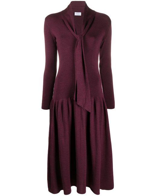 Ferragamo Vネック ニットドレス Purple