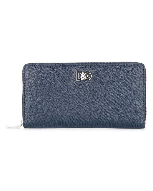 Dolce & Gabbana ファスナー長財布 Blue