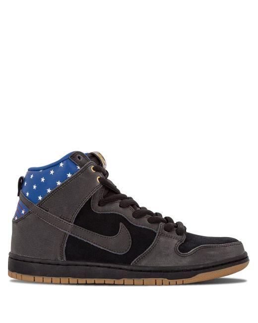 Nike Black Sb Dunk High Premium Sneakers for men