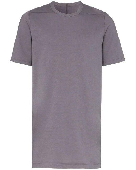 メンズ Rick Owens Level ロングライン Tシャツ Gray