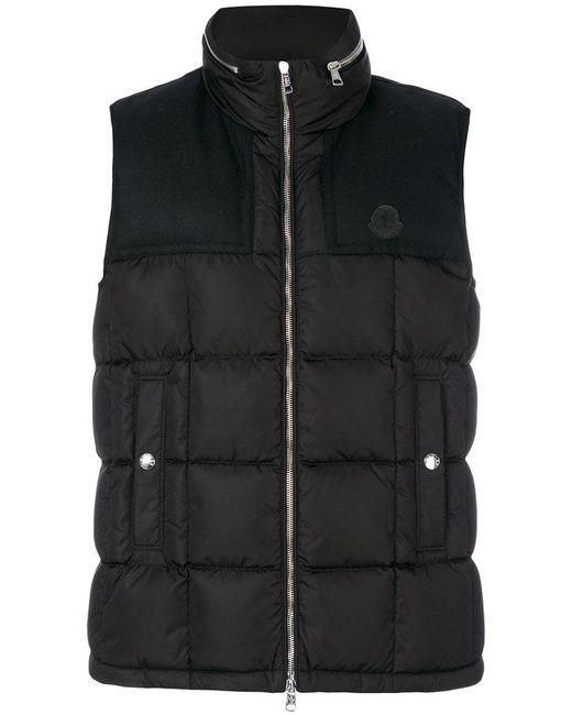 Moncler   Black Gui Quilted Vest for Men   Lyst