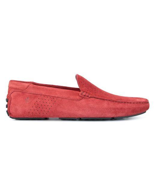 メンズ Tod's For Ferrari Gommino ドライビングシューズ Red