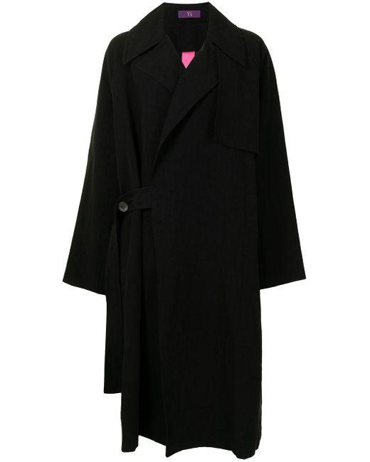 Пальто Оверсайз Y's Yohji Yamamoto, цвет: Black
