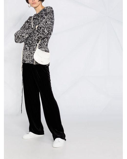 Dorothee Schumacher Black Velvet-effect Wide Leg Trousers