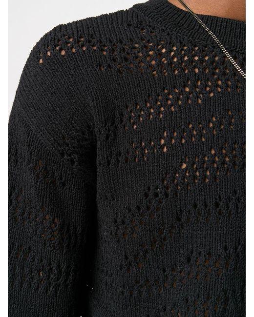 Джемпер Рыхлой Вязки Roberto Cavalli для него, цвет: Black