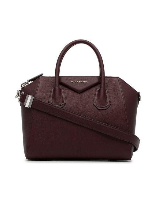 Givenchy Antigona Leather Tote Bag in Purple - Save ... fefaf1dcbc