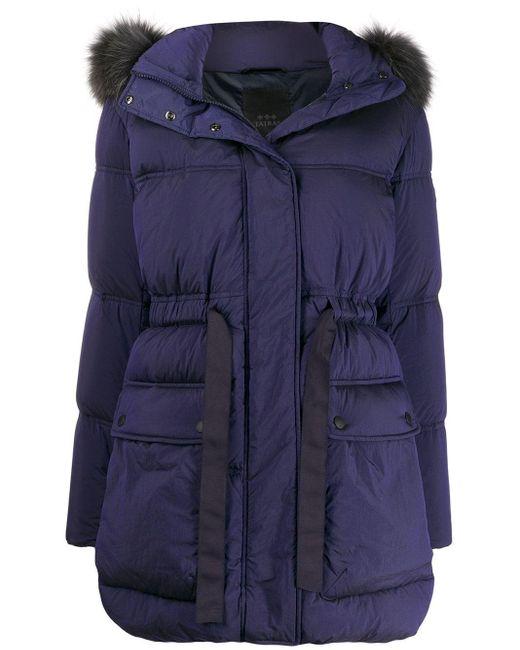 Tatras Blue Hooded Parka Coat