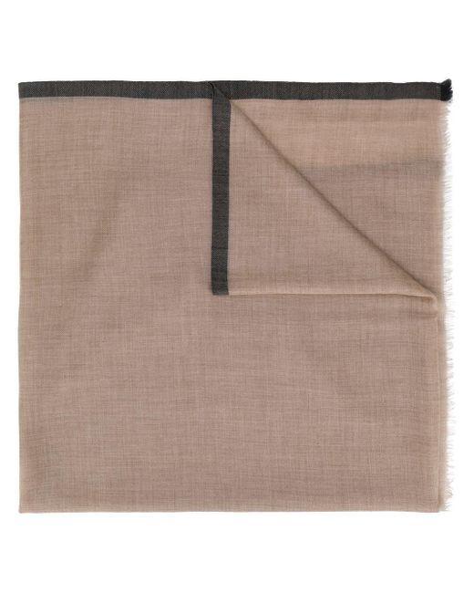 N.Peal Cashmere コントラストトリム スカーフ Multicolor