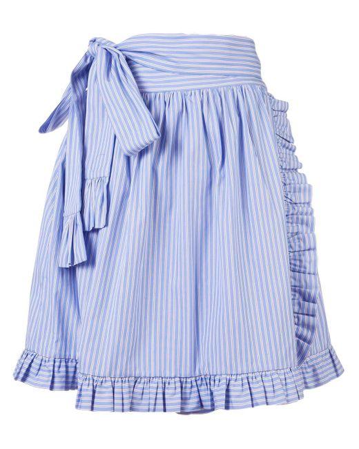 Stella McCartney ラッフルトリム ラップスカート Blue