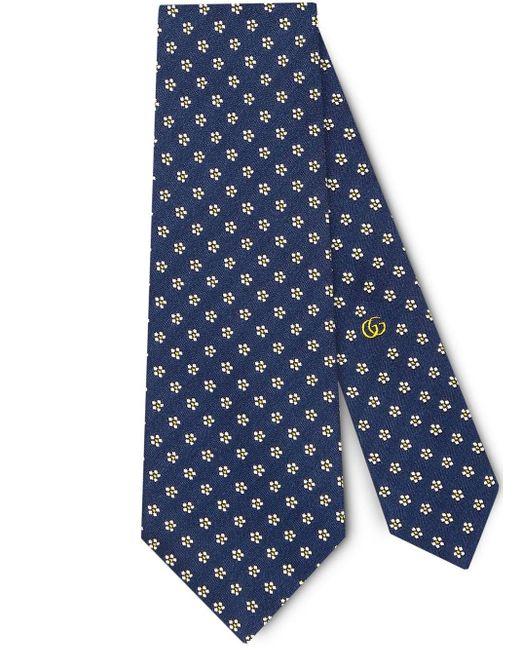 Corbata con motivo Gucci de hombre de color Blue