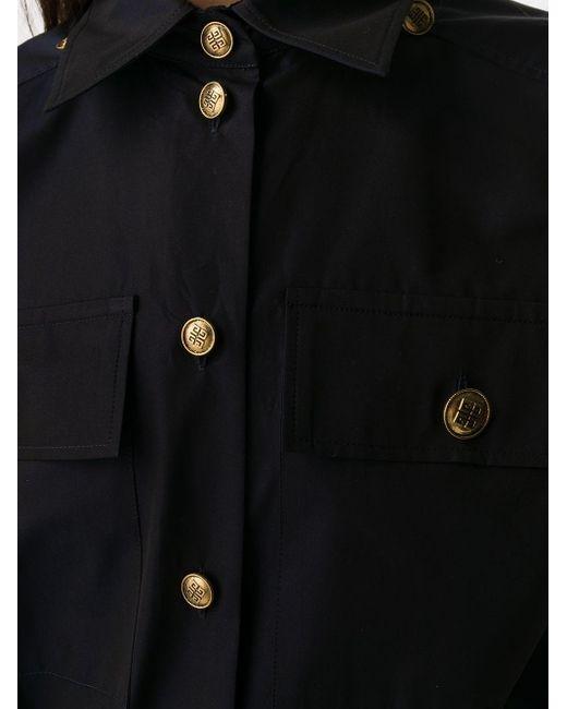 Givenchy ロゴボタン シャツ Blue