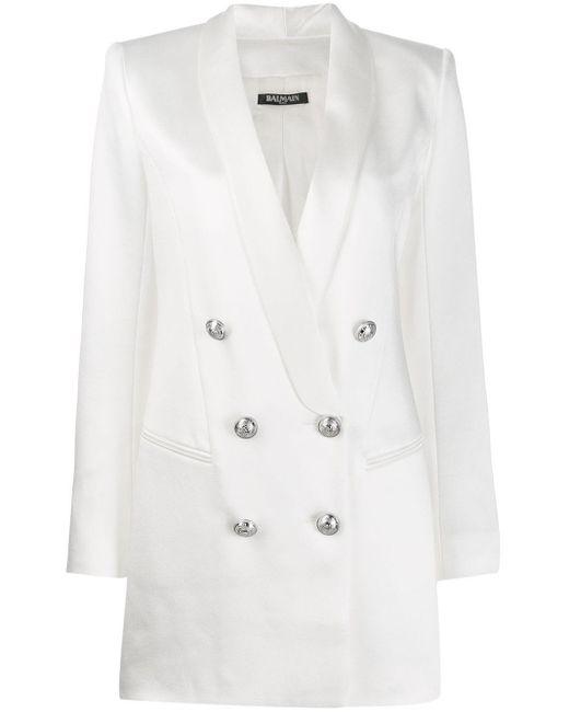 Balmain ダブルジャケットドレス White