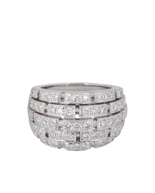 Cartier プレオウンド Panthère ダイヤモンド リング 18kホワイトゴールド Metallic