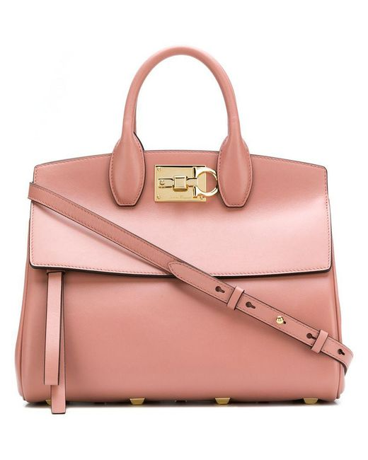 Ferragamo - Pink Studio Tote Bag - Lyst