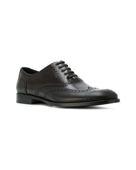 Dolce & Gabbana Détail Trou Poinçon Chaussures Oxford - Marron hfDyR6