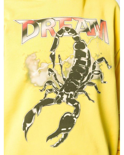 Felpa Scorpion con stampa di MSGM in Yellow