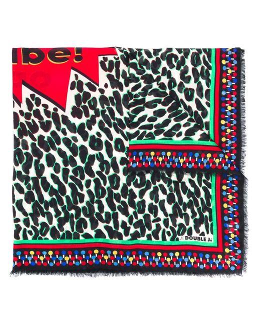 LaDoubleJ レオパード スカーフ Multicolor