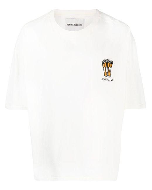 メンズ Henrik Vibskov エンブロイダリー Tシャツ White