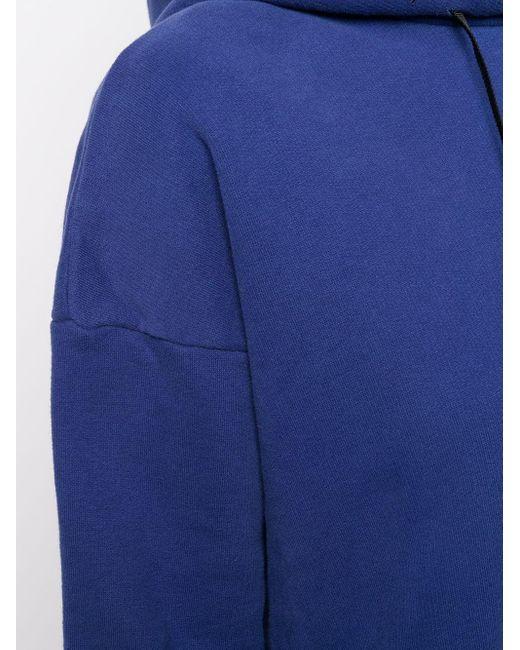 Unravel Project Blue Schulterfreier Kapuzenpullover