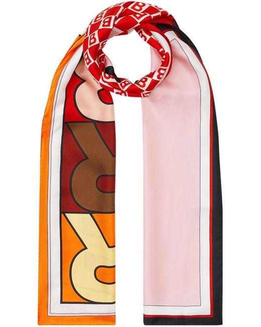 Burberry ロゴ スカーフ Pink